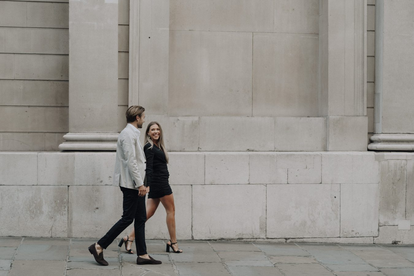London pre wedding couples engagement shoot