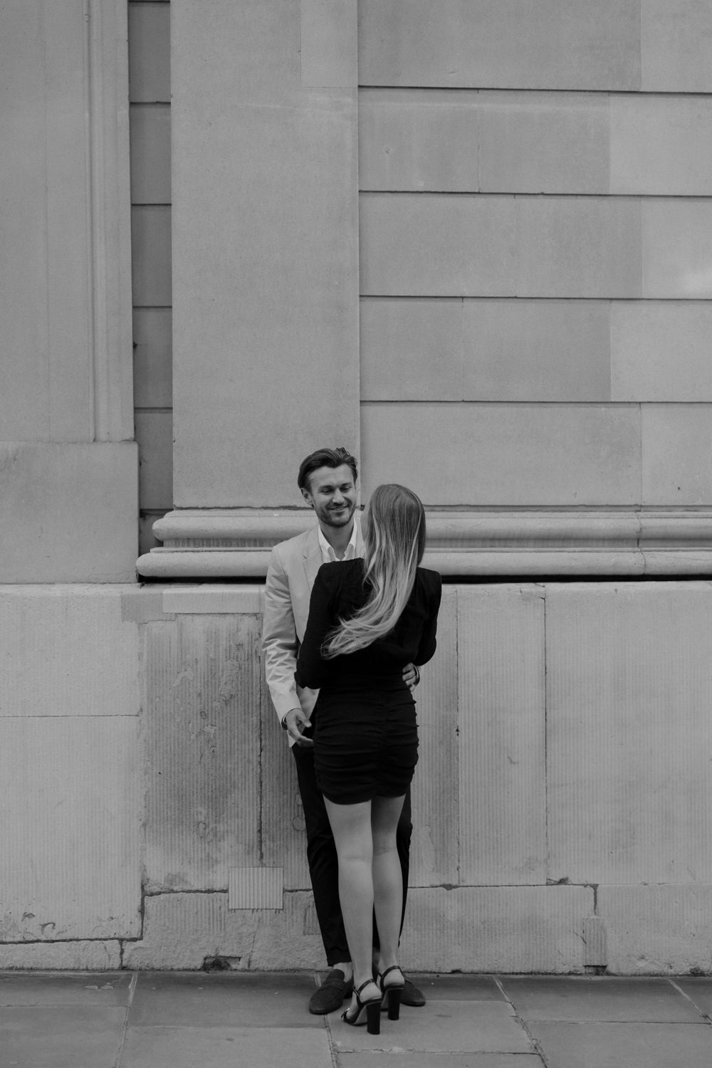 Fashionable couples London engagement shoot